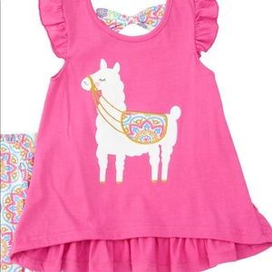 Nannette Matching Sets - 🎉🎉HOST PICK 6/11🎉🎉 Pink Llama Bow Top/Leggings
